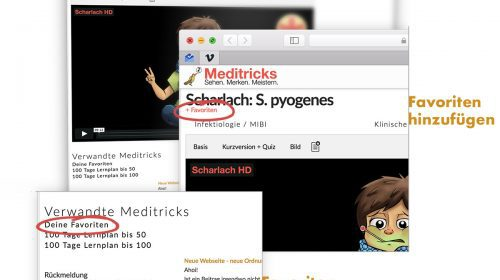 Favoriten-Funktion auf Meditricks.de